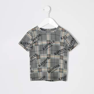 River Island Mens Mini boys Brown check T-shirt
