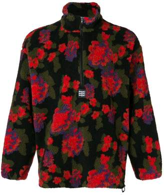 MSGM floral zipped jumper