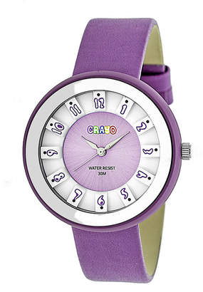 Crayo Unisex Purple Strap Watch-Cracr3407