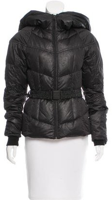 The North Face Belted Puffer Coat $200 thestylecure.com