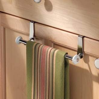 InterDesign York Over-the-Cabinet Kitchen Dish Towel Bar Holder, Various colors