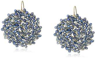 """Kenneth Cole New York Woven"""" Woven Faceted Bead Round Drop Earrings"""