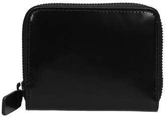 Common Projects Black Leather Zip Coi Case