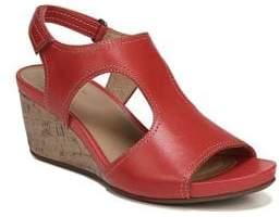 Naturalizer Cinda Leather Slingback Wedge Sandals
