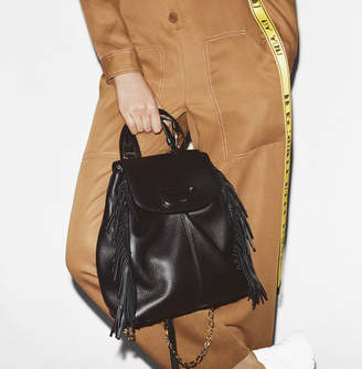 Maje M backpack in leather with chain
