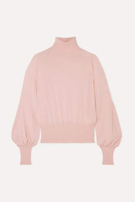 Antonio Berardi Merino Wool Turtleneck Sweater - Baby pink