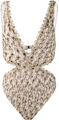 Missoni Mare feathered crochet swimsuit