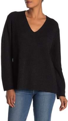 Velvet by Graham & Spencer Tayen V-Neck Wool Blend Sweater