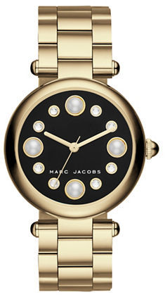 Marc Jacobs Marc Jacobs Riley Stainless Steel Leather Strap Dress Watch, CLSC36SSTANSTRP