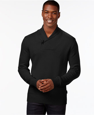 Sean John Men's Toggle Shawl-Collar Sweater, Only at Macy's $64.50 thestylecure.com