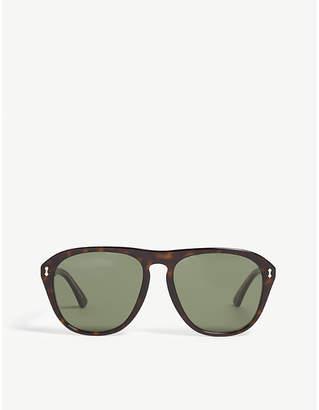 fa4842ffbea Gucci GG0128S havana square-frame sunglasses