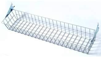 "Storability 31""W x 4""H x 6-1/2""D Gray Epoxy Coated Steel Wire Basket with Lock-On Hanging Brackets"