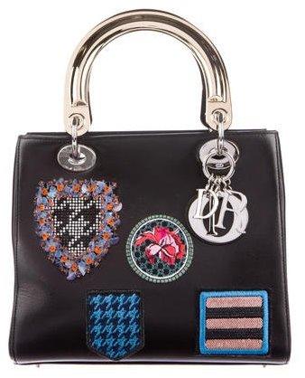 Christian Dior Medium Badges Lady Dior Bag