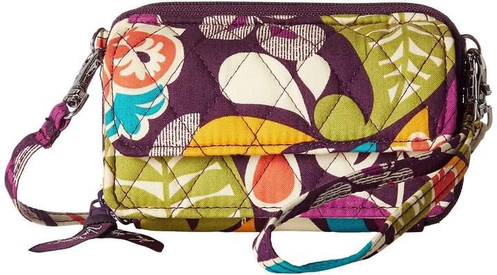 Vera Bradley Smartphone Wristlet Wristlet Handbags - PLUM CRAZY - STYLE