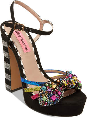 Betsey Johnson Tobie Embellished Platform Sandals
