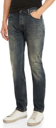 Desigual Dark Doodle Slim-Fit Jeans