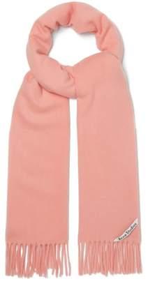 Acne Studios Canada Narrow Wool Scarf - Womens - Pink