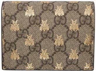 Gucci Beige GG Supreme Bees Wallet