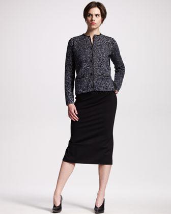 Jil Sander High-Waist Jersey Skirt