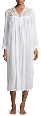 Anastasia Beverly Hills Celestine Long-Sleeve Long Nightgown