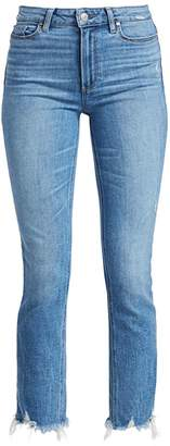 Paige Cindy High-Rise Distress Ankle Jeans