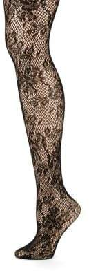 Zac Posen Floral Fishnet Tights