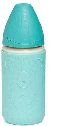 Suavinex SUAVINEX 240ml Glass Bottle with Silicone Cover Light Blue
