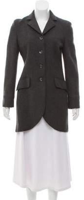 Alberta Ferretti Short Wool Coat