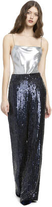 Alice + Olivia RACQUEL SEQUIN PULL UP PANT