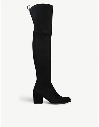 Stuart Weitzman Tieland velvet over-the-knee boots