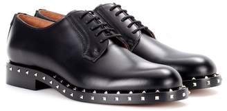 Valentino embellished leather Derby shoes