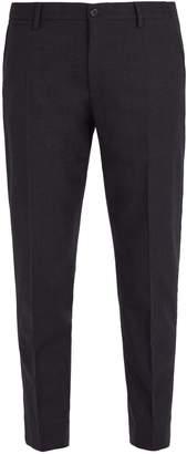 Dolce & Gabbana Slim-leg wool-blend trousers