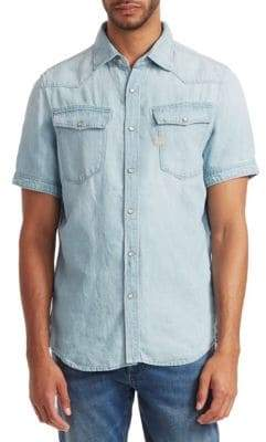 G Star 3301 Denim Short-Sleeve Shirt