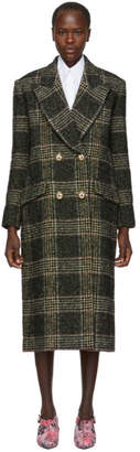 Erdem Black and White Check Almeda Coat