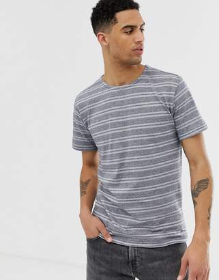 Solid T-Shirt With Geo Stripe