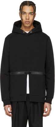 Givenchy Black Waist Zip Hoodie $990 thestylecure.com