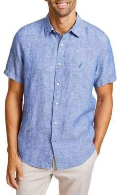 Nautica Classic-Fit Linen Button-Down Shirt