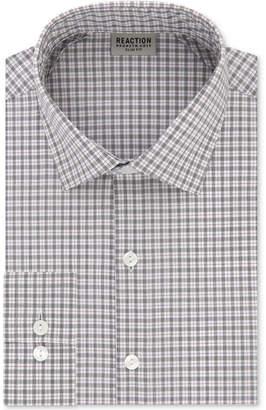 Kenneth Cole Reaction Men's Techni-Cole Slim-Fit Flex Collar Three-Way Stretch Performance Check Dress Shirt