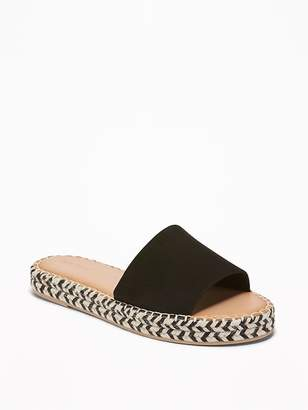 Old Navy Faux-Suede Slide Espadrille Sandals for Women