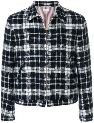 Thom Browne Tartan Tweed Golf Jacket