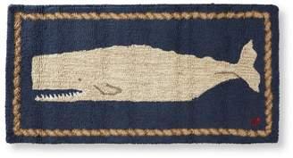 L.L. Bean L.L.Bean Wool Hooked Rug, White Whale 2' x 4'