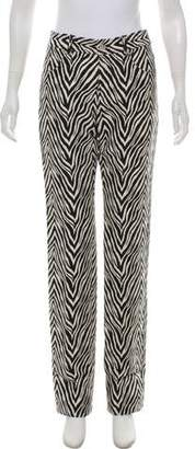 Helmut Lang Animal Print High-Rise Jeans w/ Tags