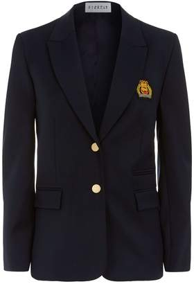 Claudie Pierlot Embroidered Crest Blazer