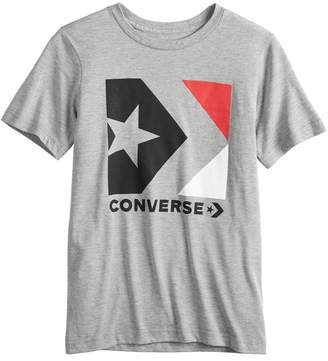 Converse Boys 8-20 Star Cheveron Box Tee