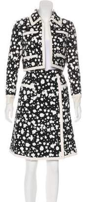 Chanel Hand-Painted Tweed Suit Set w/ Tags Black Hand-Painted Tweed Suit Set w/ Tags