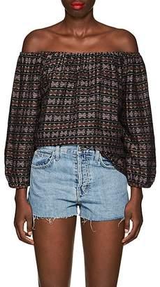 Ace&Jig Women's Lucia Reversible Geometric-Pattern Cotton Top