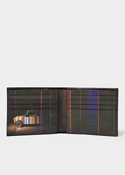 Paul Smith Men's Black Leather 'Mini' Print Interior Billfold Wallet