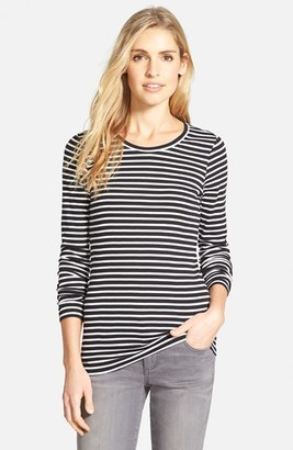 Women's Caslon Long Sleeve Scoop Neck Cotton Tee $25 thestylecure.com