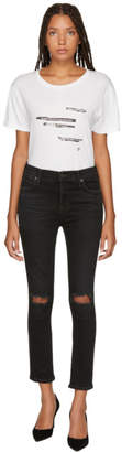 Citizens of Humanity Black Rocket Crop High-Rise Skinny Jeans