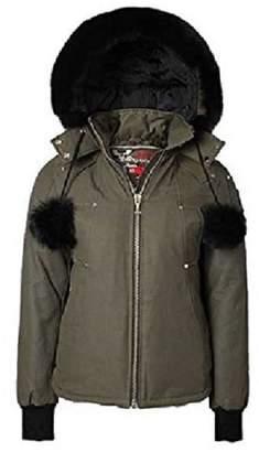 Moose Knuckles Beaver Ladies Jacket colour with Black Fur Size MK2558LJ